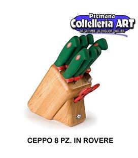 Sanelli - Ceppo coltelli 8 pezzi Maxime in Rovere