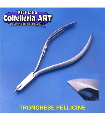 Coltelleria ART - Tronchesino per le pelli 4 mm - manico lungo - inox