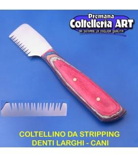 Coltelleria ART - Coltellino da stripping 10 - Denti larghi - Color