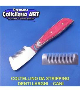 Coltelleria ART - Coltellino da stripping 11 - Denti larghi - Color