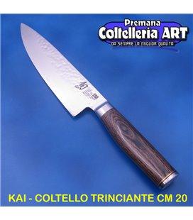 Kai - Coltello Cuoco - Trinciante cm 20 - Damascato - TDM