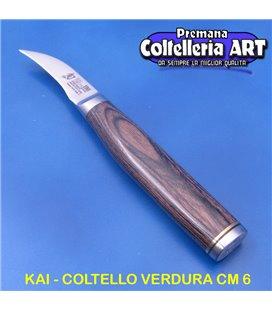 Kai - Coltello Spelucchino Curvo - Universale cm 6 - Damascato - TDM