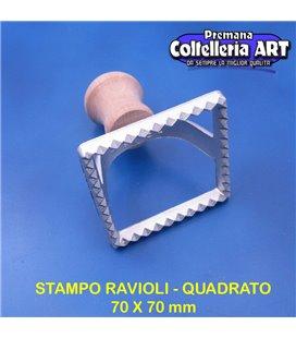 eppicotispai - Stampo per ravioli quadrato grande 70 x 70 mm - alluminio