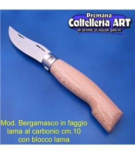 Codega - Coltello Bergamasco in Faggio cm 10 - Carbonio - Block