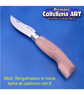 Codega - Coltello Bergamasco in Noce cm 9 - Carbonio - No Block