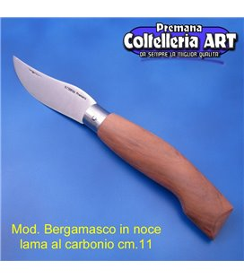 Codega - Coltello Bergamasco in Noce cm 11 - Carbonio - No Block