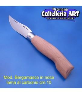 Codega - Coltello Bergamasco in Noce cm 10 - Carbonio - No Block