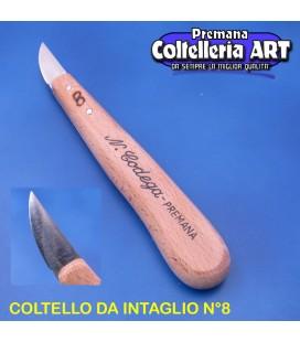 Coltello intaglio Codega n°8 mm.33