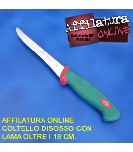 Affilatura coltello disosso e simili con lama fino a 18 cm.