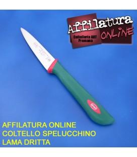 Affilatura coltello spelucchino dritto