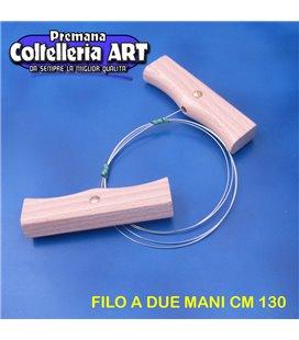 Bharbjt - tagliaformaggio a filo due mani manico in legno cm 130