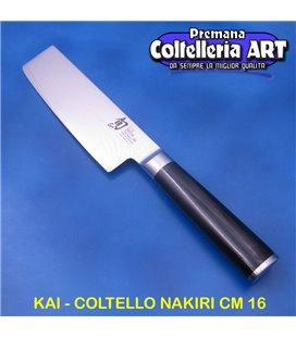 Kai - Coltello Nakiri cm 16 - Damascato