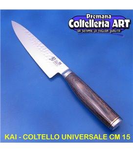 Kai - Coltello Spelucchino - Universale cm 15 - Damascato - TDM