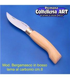 Codega - Coltello Bergamasco in Bosso cm 8 - Carbonio - No Block