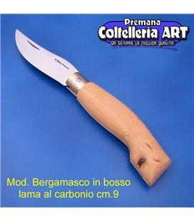 Codega - Coltello Bergamasco in Bosso cm 9 - Carbonio - No Block