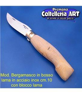 Codega - Coltello Bergamasco in Bosso cm 10 - Inox - Block