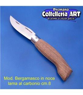 Codega - Coltello Bergamasco in Noce cm 8 - Carbonio - No Block