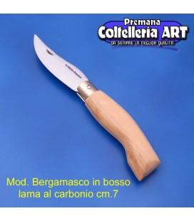 Codega - Coltello Bergamasco in Bosso cm 7 - Carbonio - No Block