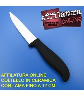 Affilatura coltello cuoco lama in ceramica fino a 12 cm.