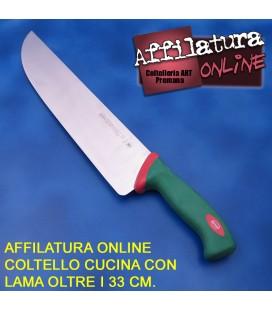 Affilatura coltello cuoco e simili con lama oltre i 33 cm.