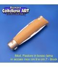 Mod. Pastore due lame in bosso - Inox - Block cm.9