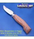 Mod. Bergamasco in Faggio - Inox - Block cm.10