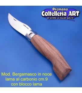 Mod. Bergamasco in Noce - Carbonio - Block cm.9
