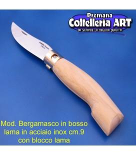 Codega - Coltello Bergamasco in Bosso cm 9 - Inox - Block