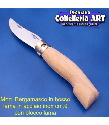 Mod. Bergamasco in Bosso - Inox - Block cm.9