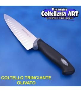 Coltello Trinciante Olivato cm.21 - Manico nero