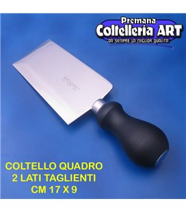 Bharbjt - coltello veneto Quadro con due lati taglientii cm 17 x 9