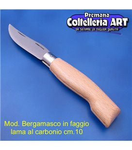 Codega - Coltello Bergamasco in Faggio cm 10 - Carbonio - No Block