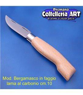 Codega - Coltello Bergamasco in Faggio cm 10 - Carbonio - No Block