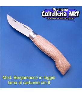 Codega - Coltello Bergamasco in Faggio cm 8 - Carbonio - No Block