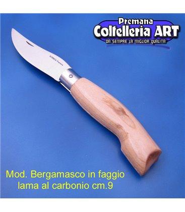 Codega - Coltello Bergamasco in Faggio cm 9 - Carbonio - No Block