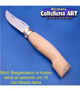 Codega - Coltello Bergamasco in Bosso cm 10 - Carbonio - Block