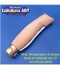 Codega - Coltello Bergamasco in Bosso cm 10 - Carbonio - Block